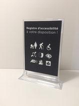 Présentoir pour registre d'accessibilité - modèle PREMIUM