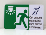 "Signalétique PVC ""alarme lumineuse"""