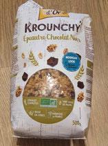 Krounchy Epeautre chocolat noir 500g