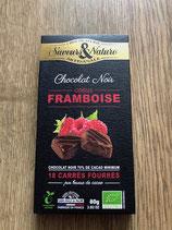 Saveurs & Nature chocolat noir coeur framboise 80gr
