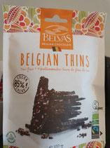 Belvas Belgian thins chocolat belge végan 120gr