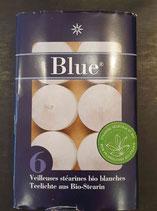 Bougies stéarines bio blanches
