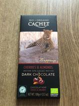 cachet chocolat 57% cerise et amandes
