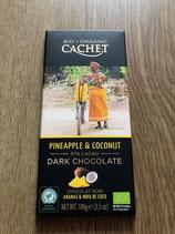 Cachet chocolat 57% ananas et coco 100g