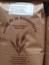 Farine 60% ( blanche) Bio ferme de la Rousselerie 2Kg