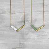 NECKLACE  Tubes and Gems