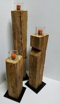 Altholz Kerzenständer 3er Set