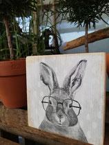 Holzschild mini 10x10cm Tiere und Bilder