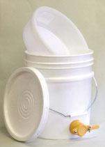 プラスチック製蜂蜜タンク・三重蜜こしセット