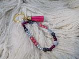 021 Schlüsselanhänger mit pinker Quaste