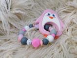 019 Pinguin Beißring rosa