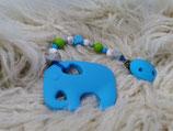 007 Elefant Beißkette blau