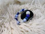 006 Cookie Beißring dunkelblau / pastellblau