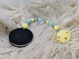 020 Cookie Beißkette pastellgelb / mint