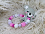 010 Koala Beißring grau / pink