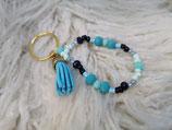 030 Schlüsselanhänger mit blauerQuaste