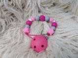 003 Schnullerkette pink / rosa