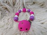 004 Schnullerkette lila / pink