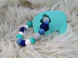 013 Elefanten Beißring blau