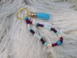 024 Schlüsselanhänger mit blauer Quaste