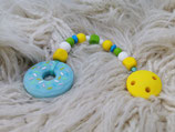 005 Donut Beißkette blau