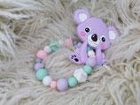 004 Koala Beißring flieder / pastell