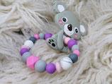 034 Koala Beißring rosa / lila