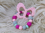 016 Schmetterling Beißring rose / pink