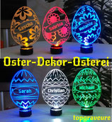 Oster Dekor Osterei Geschenk IHR NAME Ostertag LED-Beleuchtung