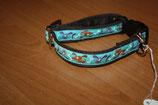 Kleinhundehalsband/Welpenband aus gepolstertem Gurtband 2cm breit