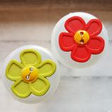Knopf Kunststoff Blume 3,0cm