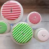 Knopf Streifen Kunststoff klein und groß