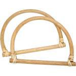 Bambus-Taschengriffe D-Form natur
