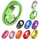 1M USB Charger Sync Data Wire Cable For iPhone 4 4S i Pad 2 3 iPod
