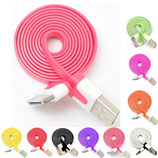 3Ft/1M Flat Noodle USB Data Sync Charger Cable for iPhone 4 4S iPad 2 3