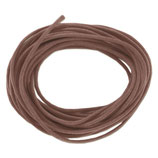 Baumwolle 1.0mm - gewachst Braun