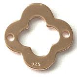 925 Kleeblatt (1) - 12mm, rosé verg.
