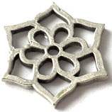 Lotusblüte (1) - ~16mm - antik versilbert