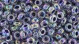 Toho 8/0 - Inside-Color Rainbow Crystal/Grape-Lined (774)