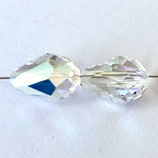 5500 Faceted Teardrop (2) - 9x6mm Shimmer 2x