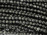 Mineralien·Perlen (1S) - Hämatit - facettiert ~4mm