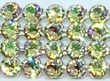 40 Stk. Crystal Mesh, Luminous Green / Silber