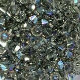 5328 Bicone (50) - 3mm Black Diamond AB