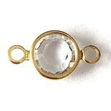Glas·Link (1) - 8/9mm - klar/golden