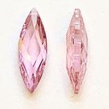 2 Stk. Navette, 6x18mm, pink