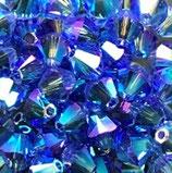 50 Stk. Sapphire AB2x 4mm