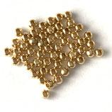 925 Perlen (1ꙭ) - 2mm, vergoldet
