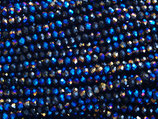 Rondelles (1S) - 3x4mm Dark - Metallic Blue