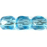 Firepolish Round (100) - 4mm Aqua