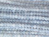 Mineralien·Perlen (1S) - Blauer Spitzenachat - facettiert ~3.5mm